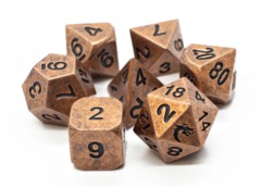 Old School RPG Metal Dice Set: Dwarven Forged - Archaic Bronze