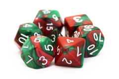Old School RPG Dice Set: Vorpal - Red & Green