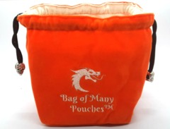 Old School Dice: Bag of Many Pouches Dice Bag - Orange