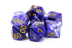Old School RPG Dice Set: Vorpal - Purple & Grey w/ Gold