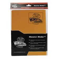 Monster Protectors 4 Pocket Matte Sunflower Orange Binder