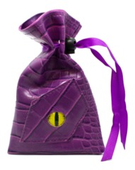 Old School Dice: Dragon Eye Dice Bag - Purple Dragon