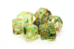 Old School RPG Dice Set: Luminous - Snake Venom