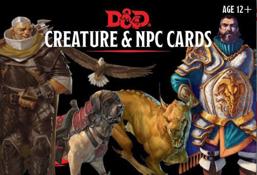 D&D Creatures and NPC Cards
