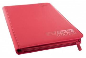 Ultimate Guard Zipfolio XenoSkin - 9 Pocket -  Red