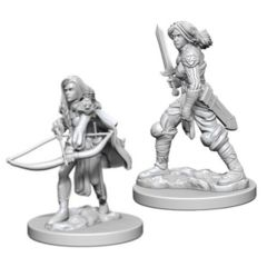 Deep Cuts Unpainted Minis - Human Female Fighter