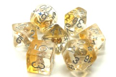 Old School RPG Dice Set: Infused - Beach Party Gold