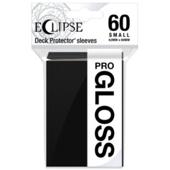 Ultra Pro Eclipse Gloss Small Sleeves - Jet Black - 60ct