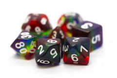 Old School RPG Dice Set: Gradients - Translucent Rainbow