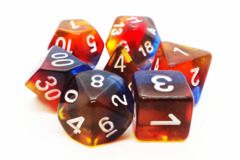 Old School RPG Dice Set: Gradients - Translucent Burnt Horizon
