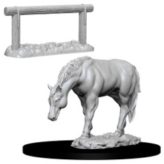 Deep Cuts Unpainted Minis - Horse & Hitch