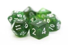 Old School RPG Dice Set: Sparkle - Translucent Green