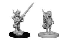 D&D Unpainted Minis - Halfling Male Fighter