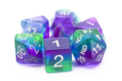 Old School RPG Dice Set: Gradients -  Translucent Blue Aurora
