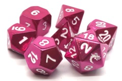 Old School RPG Metal Dice: Halfling Forged - Electric Pink