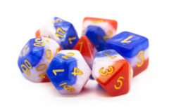 Old School RPG Dice Set: Gradients -  American Flag