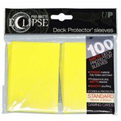 Ultra Pro - Pro Matte Eclipse: Deck Protector 100 Count Pack - Lemon Yellow
