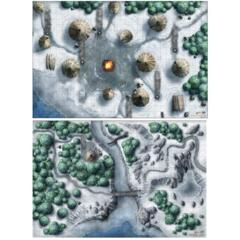 D&D Icewind Dale Map (Set of 2)