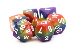 Old School RPG Dice Set: Gradients - Rainbow