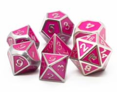 Old School RPG Metal Dice Set: Elven Forged - Metallic Pink