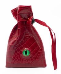 Old School Dice: Dragon Eye Dice Bag - Red Dragon