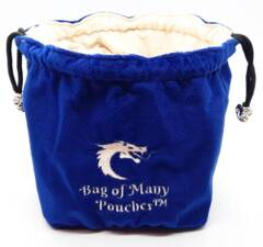 Bag of Many Pouches RPG DnD Dice Bag: Blue