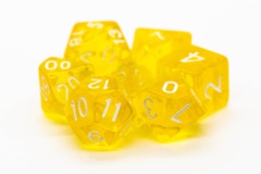 Old School RPG Dice Set: Translucent Yellow