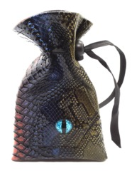 Old School Dice: Dragon Eye Dice Bag - Spectral Dragon - Blue & Gold