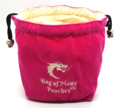 Old School Dice: Bag of Many Pouches Dice Bag - Pink