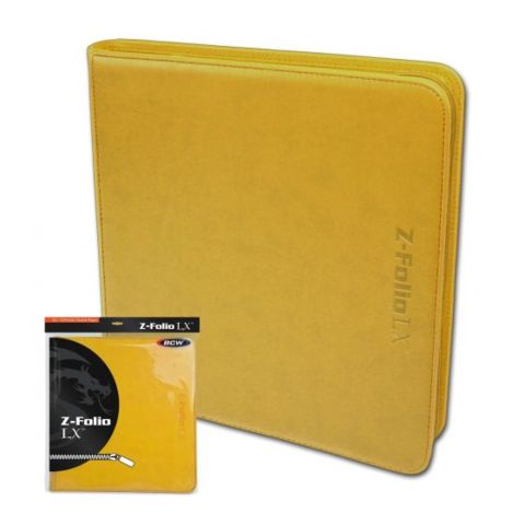 BCW Z-Folio 12-Pocket LX Album - Yellow