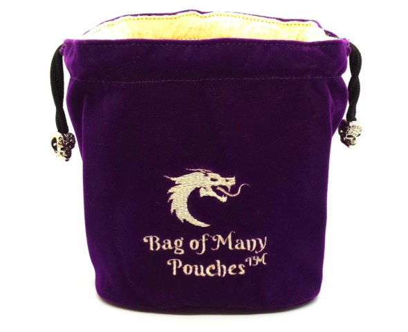 Old School Dice: Bag of Many Pouches Dice Bag - Purple