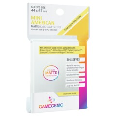 Gamegenic - Mini American Matte Board Game Sleeves - 50ct (Yellow)