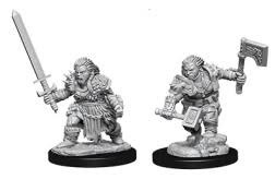 Deep Cuts Unpainted Minis - Female Dwarf Barbarian