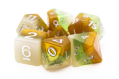 Old School RPG Dice Set: Gradients - Kiwi Fruit