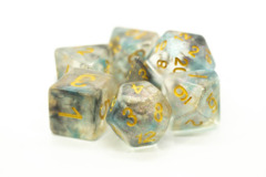 Old School RPG Dice Set: Luminous - Night Shade