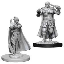 Nolzurs Marvelous Unpainted Miniatures - Minsc And Delina (Human Ranger & Moon Elf Sorcerer)