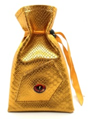 Old School Dice: Dragon Eye Dice Bag - Gold