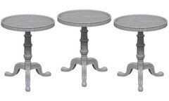 Deep Cuts Unpainted Minis - Small Round Tables