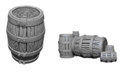 Deep Cuts Unpainted Minis - Barrel & Pile of Barrels