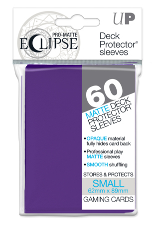 Ultra Pro Eclipse Mini Matte Sleeves - Royal Purple - 60ct