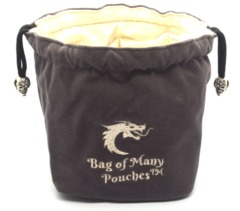 Old School Dice: Bag of Many Pouches Dice Bag - Gray