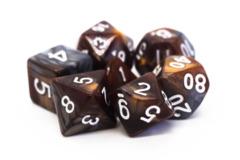 Old School RPG Dice Set: Vorpal - Brown & Silver
