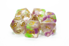 Old School RPG Dice Set: Luminous - Rose Garden