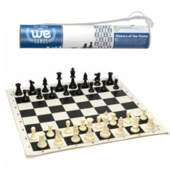 Chess - 17'' Vinyl Roll Up Tournament Set (WE Games)