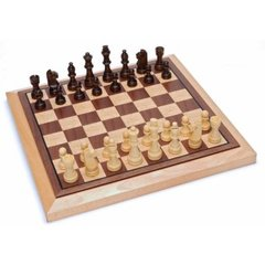 Chess - 12'' Folding Oak Set (WE Games)