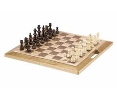 3-in-1 Deluxe Wooden Chess Checker and Backgammon Game Set (16