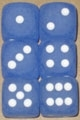 CHX27606 Frosted Blue/white Dice Block