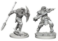 D&D Unpainted Minis - Dragonborn Fighter with Spear (Male)
