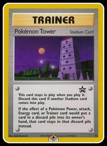 8-Card Lot Pokemon TCG Pokemon Tower Trainer #42 Promo Card