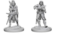 Pathfinder Battles Unpainted Minis - Elf Female Bard